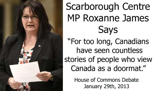 Roxanne James Canada Is Viewed As A Doormat