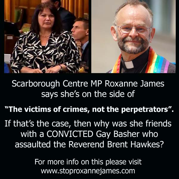 Roxanne James Friend of Convicted Gay Basher