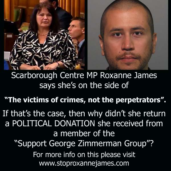 Roxanne James Political Donation From George Zimmerman Supporter