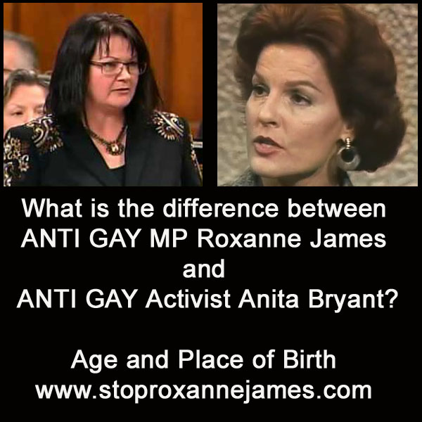 Roxanne James & Anita Bryant What Is The Difference?