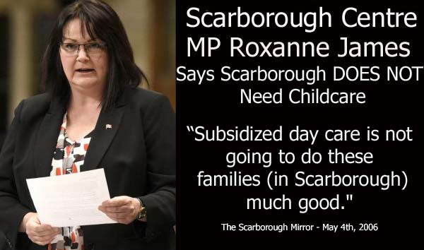MP Roxanne James say Scarborough DOESN'T need Daycare Childcare