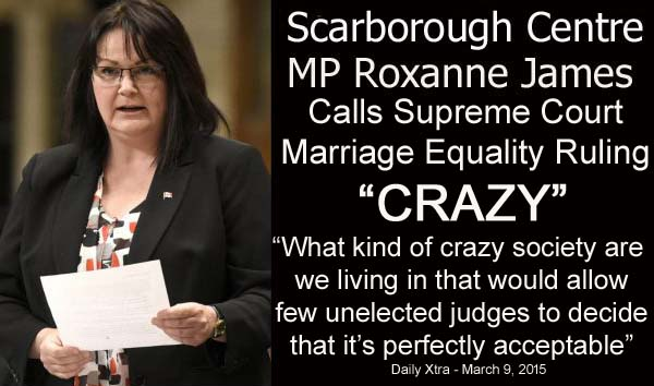 Roxanne James calls Supreme Court ruling on Gay Marriage CRAZY